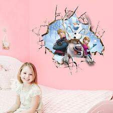 Pegatina Mural De Frozen Princesa Elsa Anna Olaf Dormitorio Niña Grande