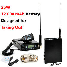 25W Dual Band VHF/UHF Portable 12000 mAh Battery FM ham mobile Transceiver radio