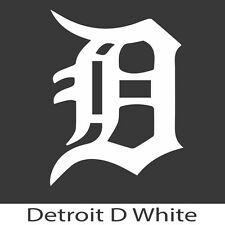 "Detroit Tigers ""D"" Decal 2.5x4(in) White"