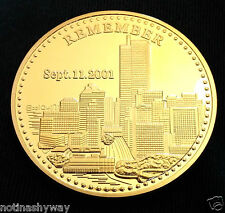 9 11 Coin Doré Double Towers Homme New York Ville United States Statue De