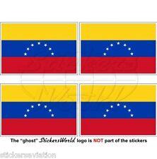 """VENEZUELA Former Civil Flag (7 Star) Venezuelan 50mm (2"""") Stickers, Decals x4"""