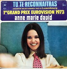 "Eurovision LUXEMBOURG 1973 ANNE MARIE DAVID Tu Te Reconnaitras 7"" single"
