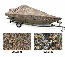 "CAMO COVER WIDE MODIFIED V JON BOAT 18'6""-19'6"" 100""B W/ HIGH CENTER CONSOLE OB"