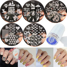 6pcs/set BORN PRETTY Nail Art Template Stamping Plates & Clear Stamper Kit DIY