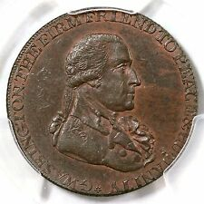 1795 PCGS MS 63 BN W Grate, Lg Button, RE Washington Colonial Copper Coin