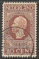 Países Bajos sg219 1913 20c Brown Fine Used