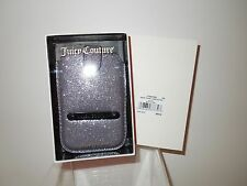 NIB Juicy Couture Smart Phone Silver/Pewter Glitter Case YTRUT039