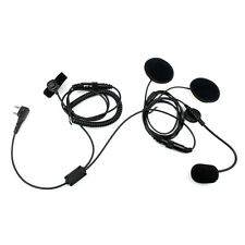 2-Pin Finger PTT Motorcycle Helmet Headset Microphone for BAOFENG Kenwood WOUXUN