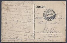 GERMANY 1916 WWI FIELDPOST EXP V28 RESERVE DIVISION SOLDIER MAIL ON PATRIOTIC PC