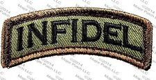 INFIDEL USA ARMY ROCKER TAB MILITARY ISIS FOREST PATCH W/ VELCRO® BRAND FASTENER