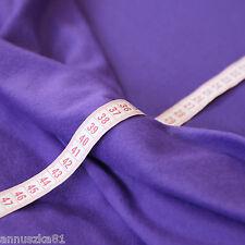 Sweat Stoff Jogging Violett - Stoff Rücken Weich Fleece - Sweatshirt Stoffe