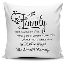 Personalised Family Like Branches On A Tree Cushion Cover - 40cm x 40cm - New