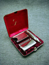 Vintage Ever Ready Single Edge Razor In Metal Case With Blade Safe