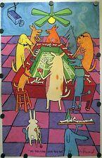 """Matt Rinard """"My Dog Gone Luck Ran Out"""" Ltd.Ed. Hand Pulled Original Litho $75"""