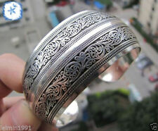 New Fashion Arrived Tibetan Tibet silver Totem Bangle Cuff Bracelet