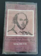 MACBETH Five Great Shakespeare Plays NEW Cassette 2 Concise Acting Versions 1979