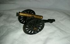 "Vintage Antique Toy Cast Iron Brass Cannon Military Miniature 4 3/4"" Long"
