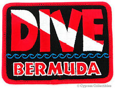 DIVE BERMUDA - EMBROIDERED PATCH SCUBA DIVING FLAG LOGO IRON-ON TRAVEL SOUVENIR