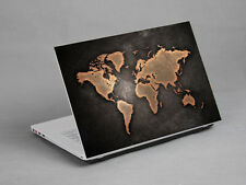 "17""  Laptop Notebook Sticker Cover Decal vinyl Atlas Map HP Dell Lenovo Asus"