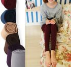 Brushed Thick Fleece Lined Thermal Footless Leggings Warm Winter Pants