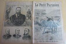 Le petit parisien 1893 242 La mort du général de Miribel