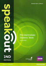 Pearson SPEAKOUT 2nd EDITION Pre-Intermediate Students' Book with DVD-ROM @NEW@