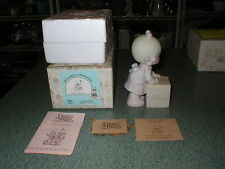 Precious Moments 1987 Sharing Is Universal Collectors Club E-0007 Girl & Package