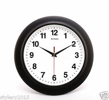 "10"" inches Wall Clock BLACK for Home & Office Decor Corporate Gift - WC514"