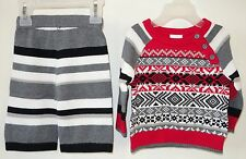 New Hanna Andersson Sweater Knit Outfit Boy's Size 60, 2-6 Month