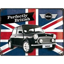 MINI PERFECTLY BRITISH  Blechschild 30x40 cm  - Sign Signs Werkstatt  23215 BMW