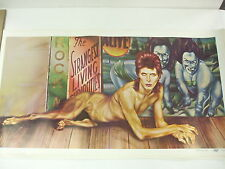 Vintage David Bowie - Diamond Dogs Tour poster PEELLAERT - Large Original NICE