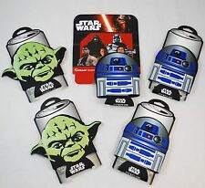 *5* STAR WARS Soda/Beer Can Cooler Koozie Coozie Insulator - R2D2 & YODA Set