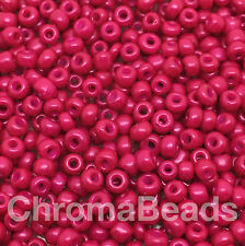 50g glass seed beads - Hot Pink Opaque - approx 3mm (size 8/0) craft