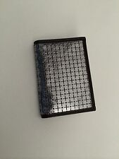 Paul Smith Perforated Cross & Dot Silver Leather 4x Credit /Business Card Wallet