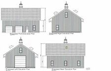 40X32 GARAGE PLAN CONSTRUCTION EQUIPMENT SHOP HIGH BAY PRTI LOFT 17-3240GBL-CEP