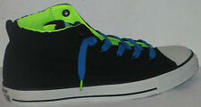 CONVERSE ALL STAR CT STREET MID BLACK/ELECTR ATHLETIC SNEAKERS MEN SHOES SIZE 10