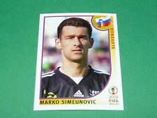 N°117 SIMEUNOVIC SLOVENIJA PANINI FOOTBALL JAPAN KOREA 2002 COUPE MONDE FIFA WC