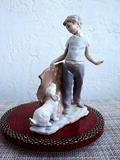 "NAO BY LLADRO ""BOY FIGHTING THE DOG"" RARE RETIRED PORCELAIN FIGURINE # 0161 MINT"