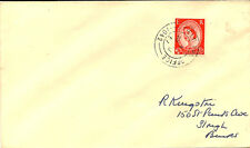 MILITARY CANCELLATION :  1957 FIELD POST OFFICE/1042( WEST TOFTS) double/r ing