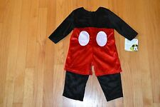 Mickey Mouse Infant Halloween Costume By Disney  Size 6-12 Months  Unisex  NWT