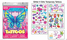 Glitter 4 Girls Temporary Tattoos,48 BAGS,Hairdresser,salon,gifts,RETAIL PACKS