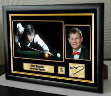 "Alex Higgins World Champion Snooker Framed Canvas Print Signed.""Great Gift"""