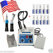 Dental Lab MARATHON Handpiece 35K Rpm Micromotor Polisher+polishing drill *10 US