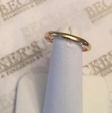 Victorian 18k yellow gold 2.6mm Plain Wedding Band size 9 British signed J&GHB