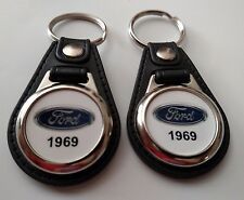 1969 FORD KEYCHAIN 2 PACK CLASSIC TRUCK AND CAR  LOGO