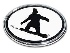 Snowboarder Chrome Car Truck Emblem High Quality Made in the USA! (NEW)