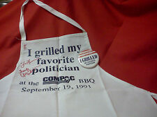 SIGNED APRON BY VARIOUS POLITICIANS AT THE 1991 COMPAC BBQ