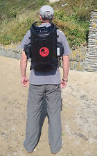 100% Waterproof 30L dry bag rucksack, padded back & straps. Submersion proof