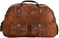 Women's Ladies Vintage Genuine Leather Travel Luggage Duffel Bags Handbag
