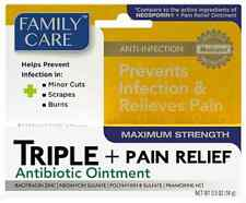 2*   ANTIBIOTIC OINTMENT + PAIN RELIEF Anti-Infection, Family Care  0.5 oz  14gr